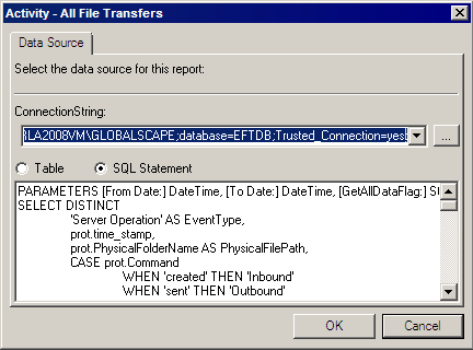 Specifying an Alternate Reporting Connection String