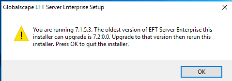 Upgrading EFT v7 x and later