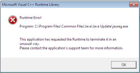 Error occurs when installing Java for WTC going through a proxy