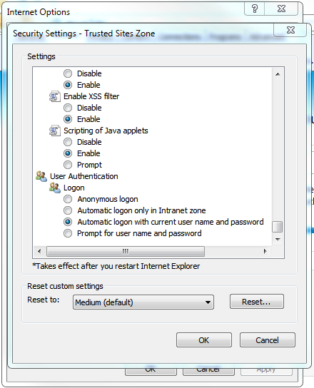 Using IWA for Single Sign On (SSO)
